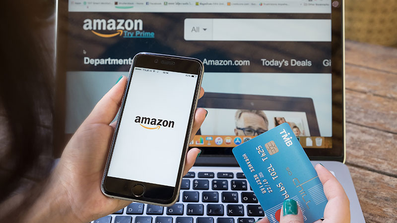 A Buyer Shopping on Amazon as One of the Latest Trends in Ecommerce