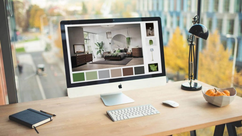 A iMac with 3D Configurator that Provides Product Customization for Users of Ecommerce Platforms