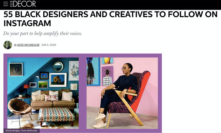 A Screenshot of an Article that Supports Black Designers and Creates the Latest Ecommerce Trend