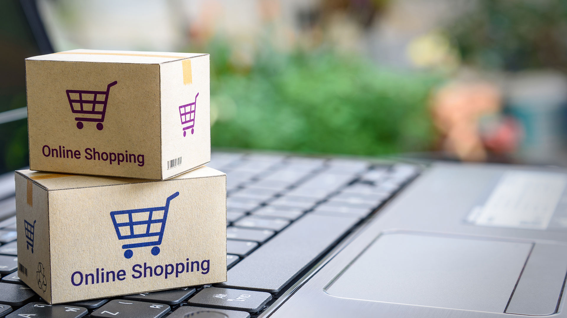Toy Shopping Boxes as a Symbol of E-Shopping as the Latest Ecommerce Trend