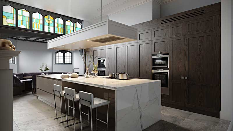 An Image of Modern Kitchen 3D Lifestyle