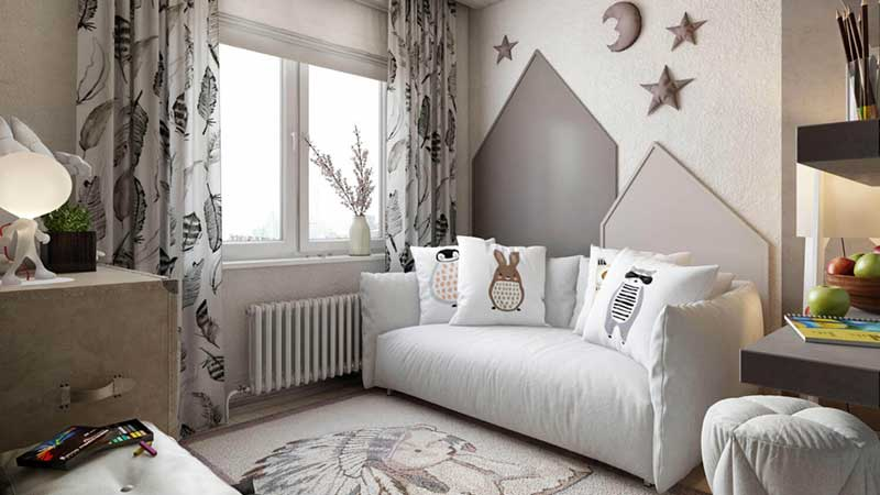 3D Lifestyle of a Children Bedroom Used for Visual Commerce