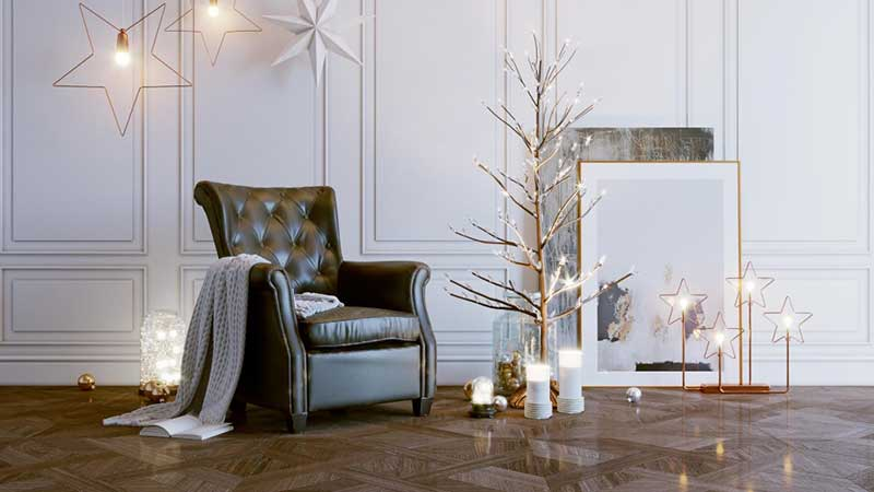 A Seasonal Image of an Armchair for Visual Marketing for Manufacturers