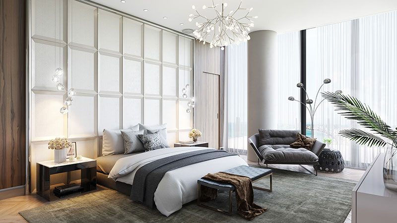 3D Rendering for a Bedroom Furniture Product Image