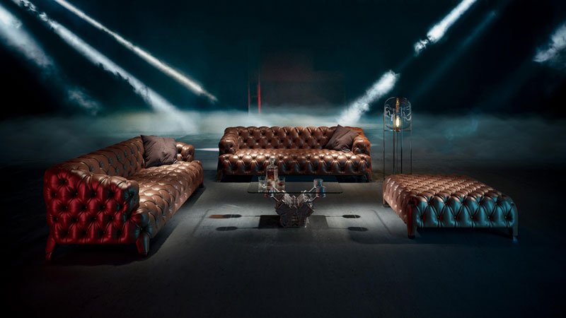 A Product Image for Leather Furnishings Made with 3D Rendering Technology