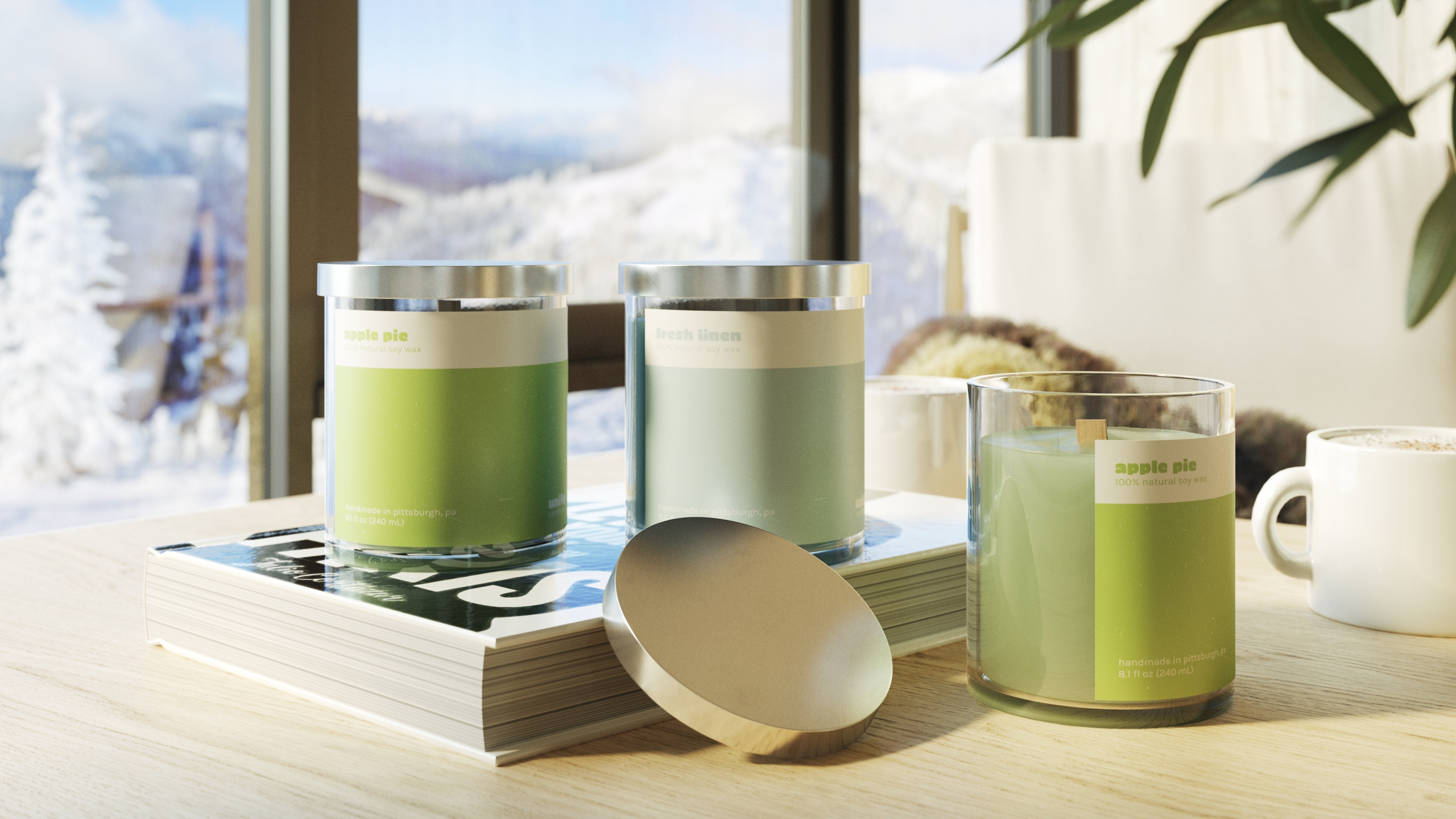 High-Quality 3D Visualization for Candle Products