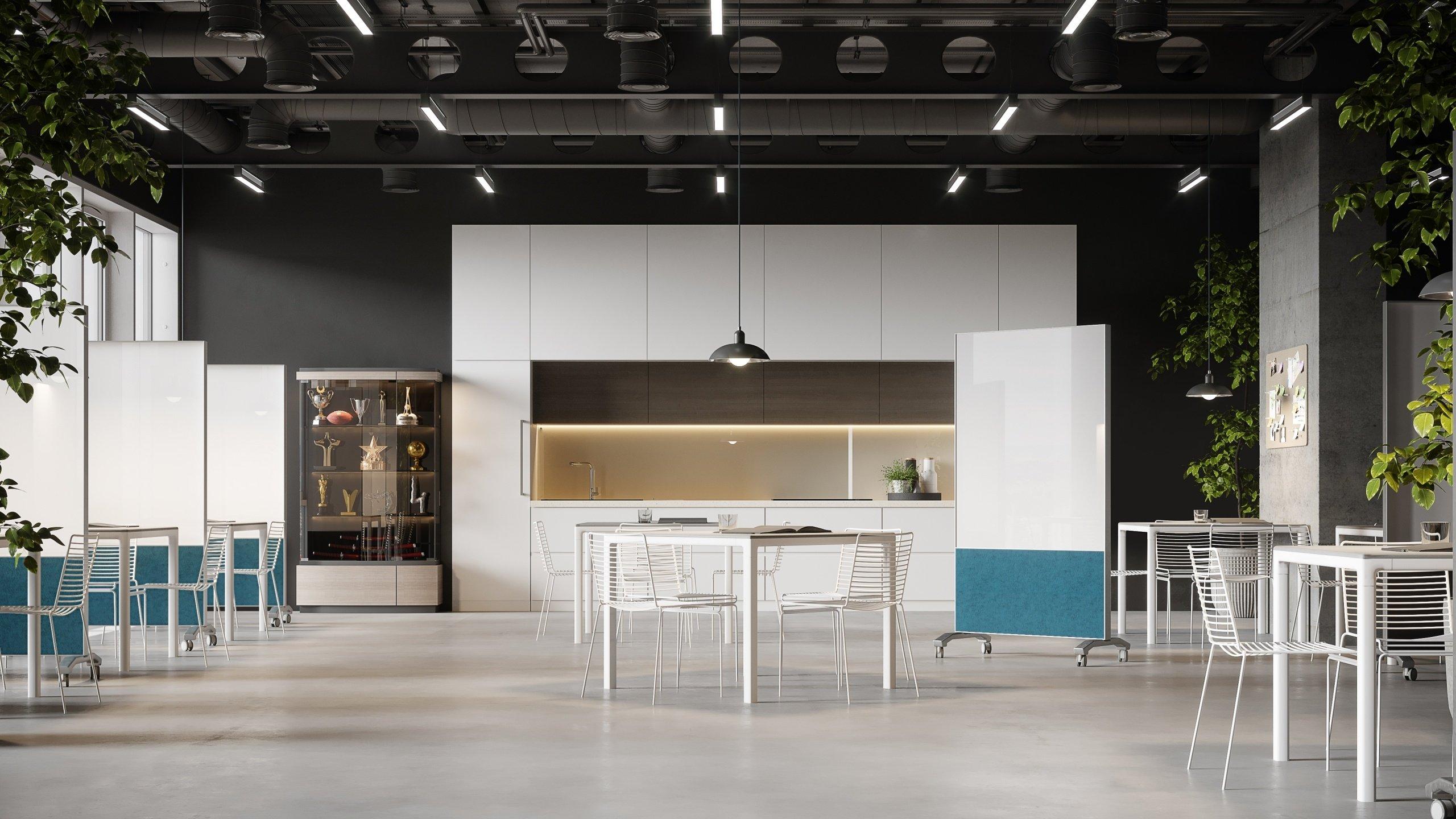 Office Kitchen Furniture Rendering