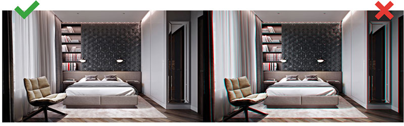 Post-Production of 3D Rendering of Furniture and Decorative Objects