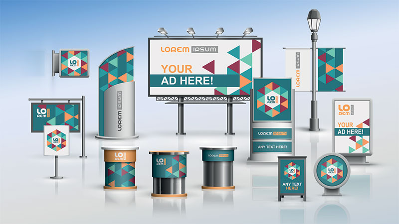 Graphic Imagery for Types of City Adverts for Any Kind of Product