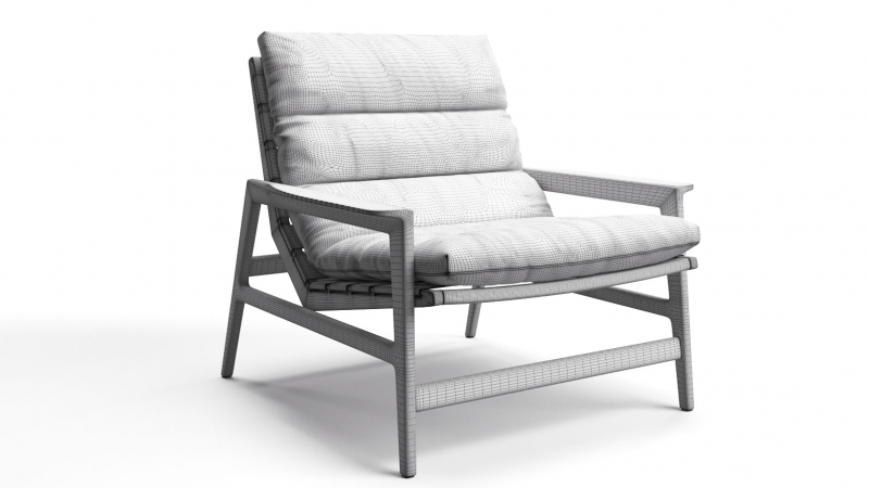 3D Modeling and Rendering of a Modern Chair