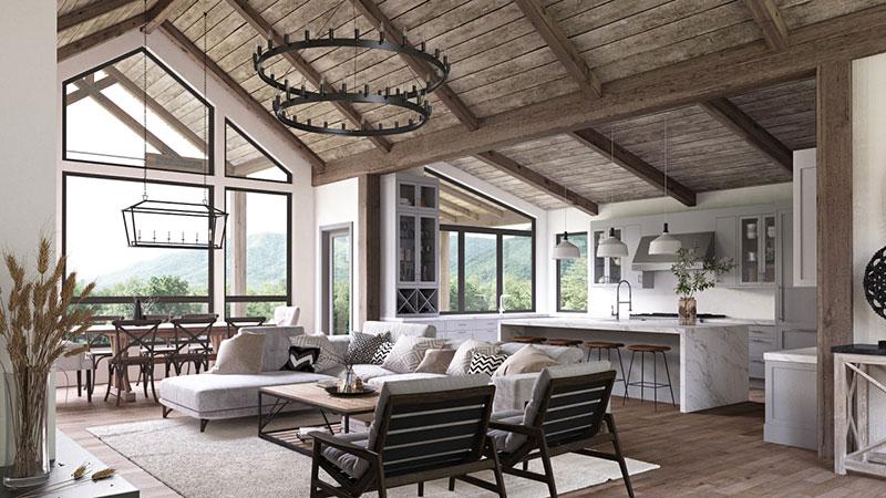 Interior Design in Modern Farmhouse Country Style