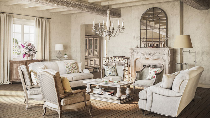A Country Interior Designed in the French Style