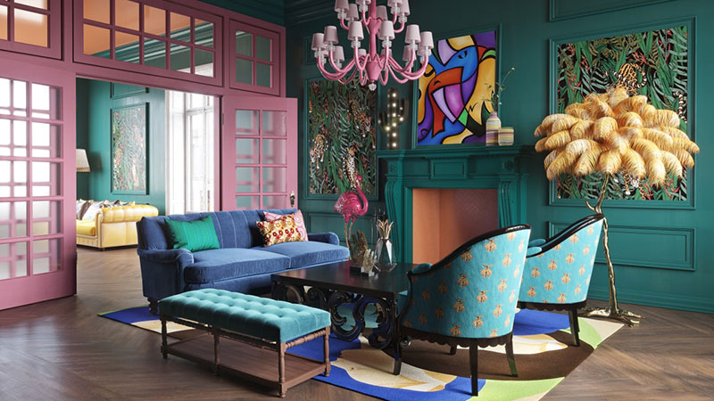 An Eclectic Kitsch Style for Modern Interior Design