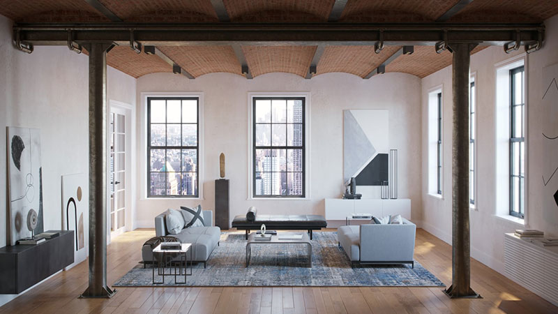 An Eclectic Industrial Design Style for a Modern Loft