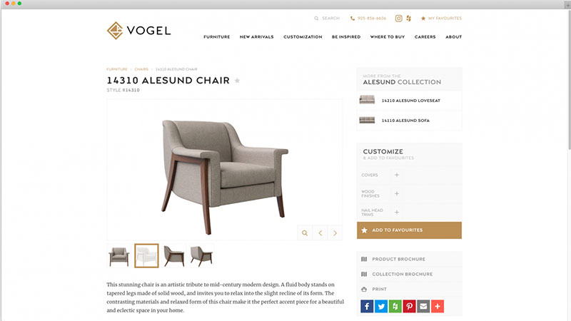 An Example of Marketing Collateral for an Armchair with Innovative Design