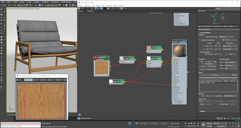 A Screenshot of a Setting Up Realistic Furniture Textures for Product Rendering