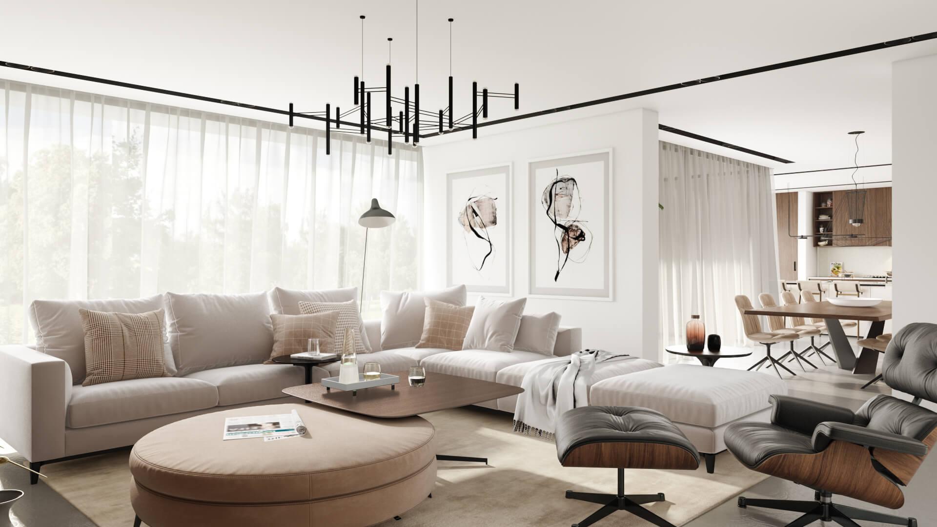 Furniture Magazine for a Living Area CGI