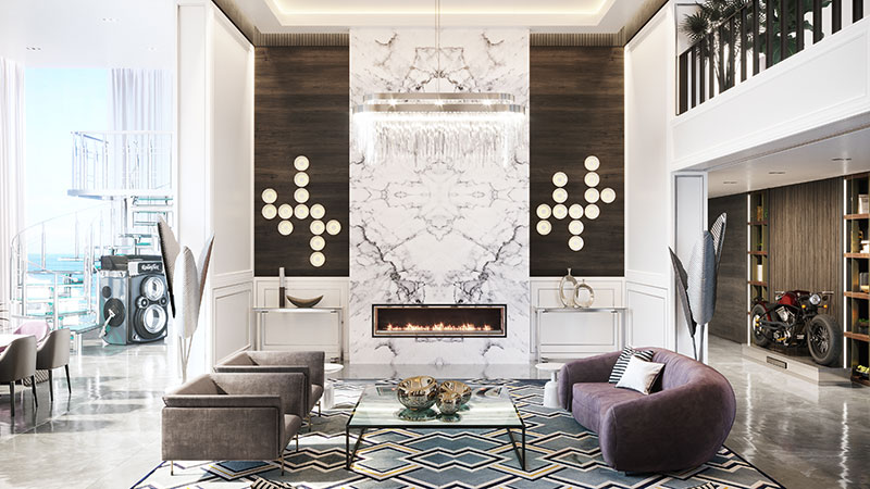Luxury Glam Interior Design for a High-End Home