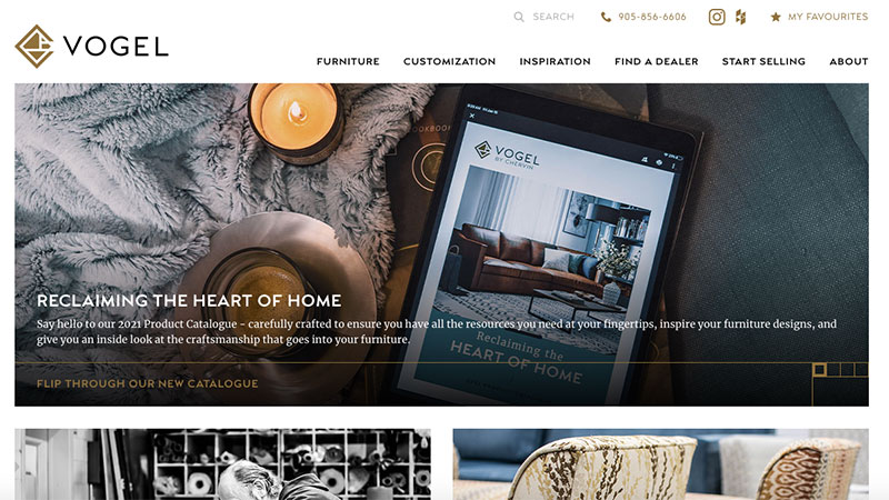 A Screenshot of an Ecommerce Platform with Strong Visual Merchandising Based on Professional Tips
