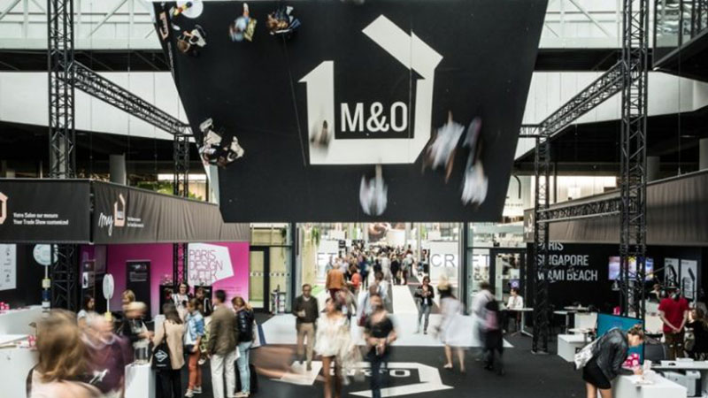A Maison&Objet Pavilion and Visitors of the Furniture Exhibition