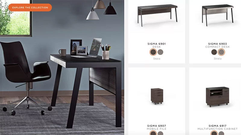 A Product Page Showing How to Sell Furnishings Online