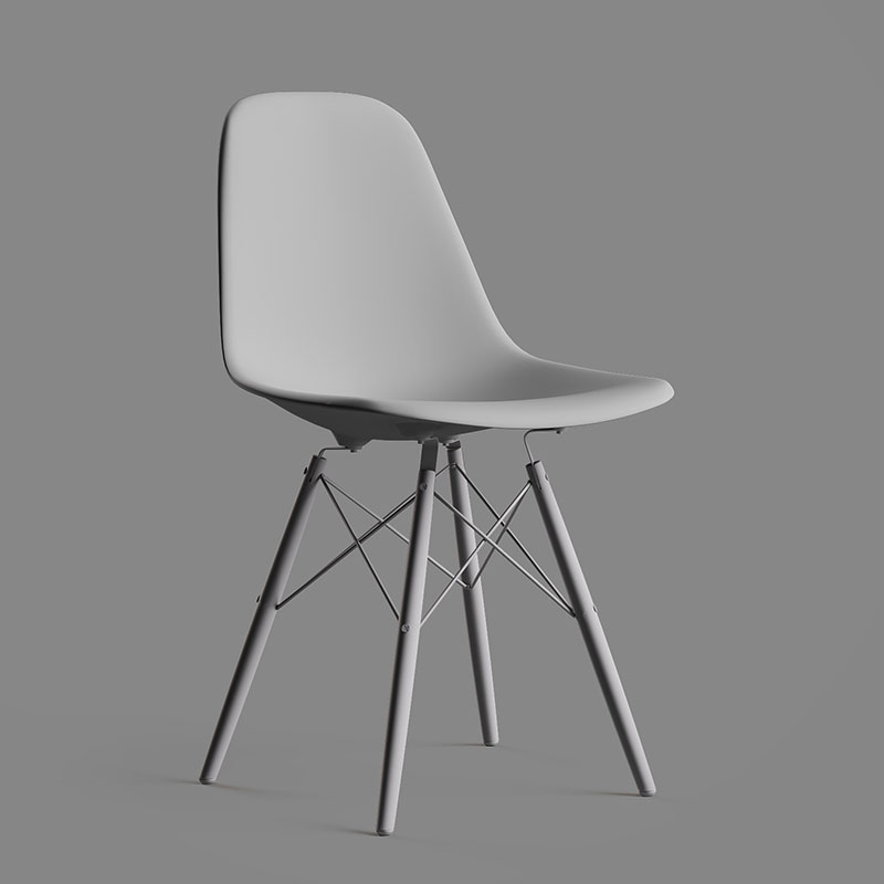 A 3D Product Model of a Chair with no Textures