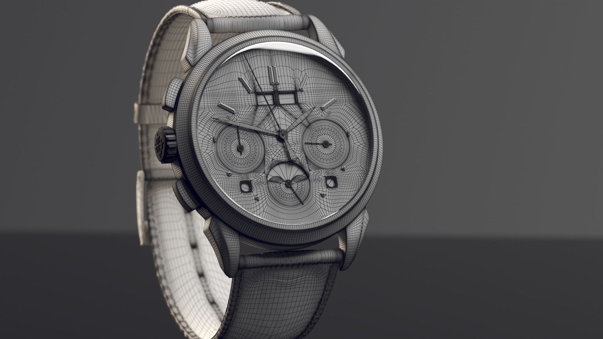Optimized 3D Model of a Watch