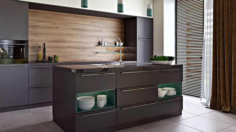 3D Photography of a Kitchen Furniture in a Virtual Room Set