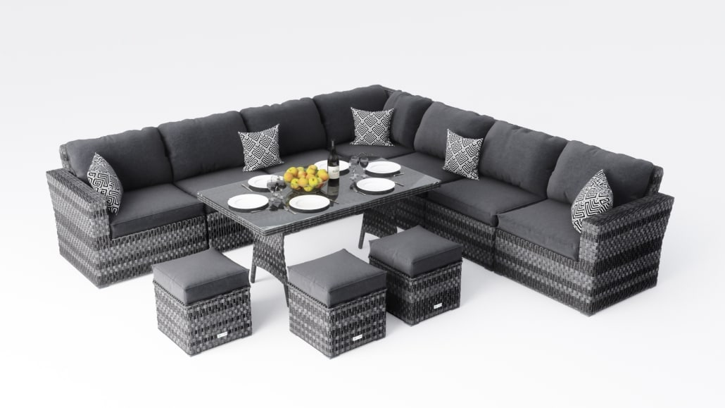 A Grey Furniture Set With Plenty of 3D Models