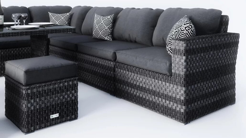 A Close-Up View of High Complex Furniture 3D Models