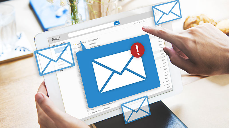 A Person Using Post-Purchase Email Marketing to Maintain Their Customers