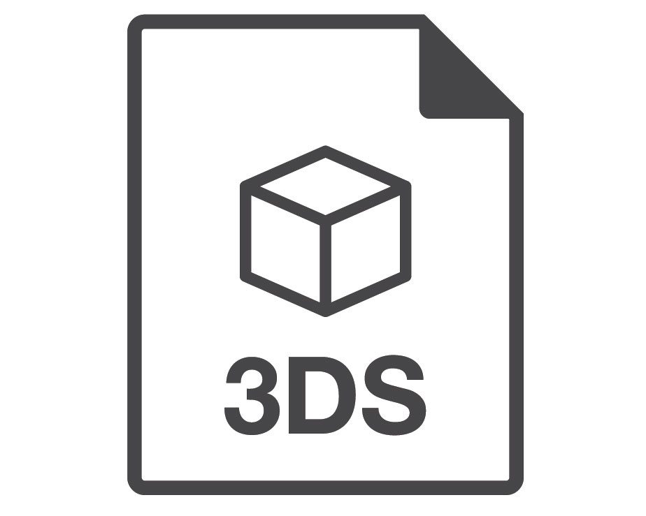 3DS 3D File Format Vector Logotype