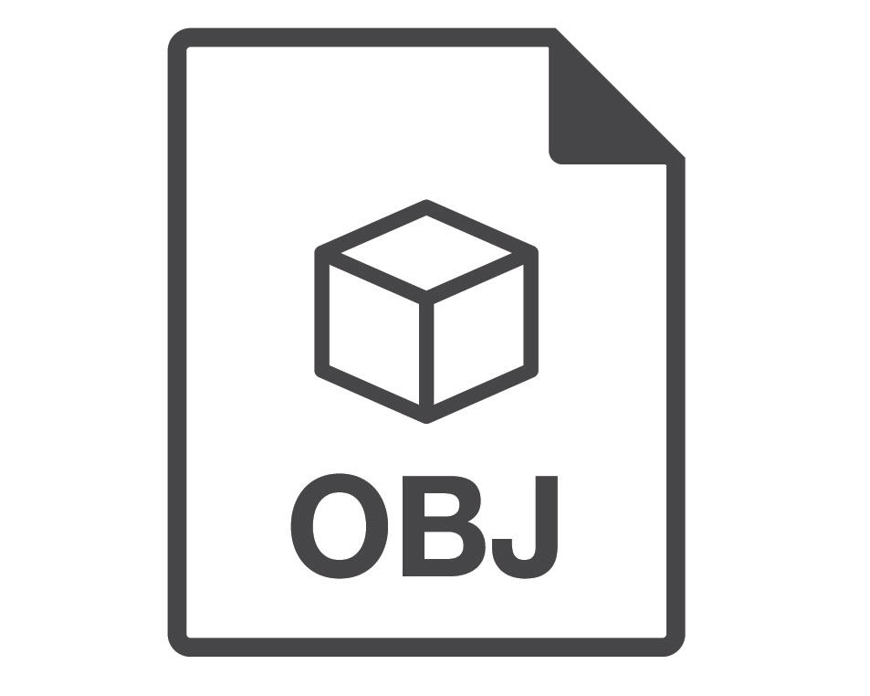 A Logotype of OBJ Format for 3D Files