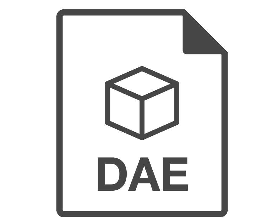 A Vector Logo of COLLADA of DAE 3D File Format