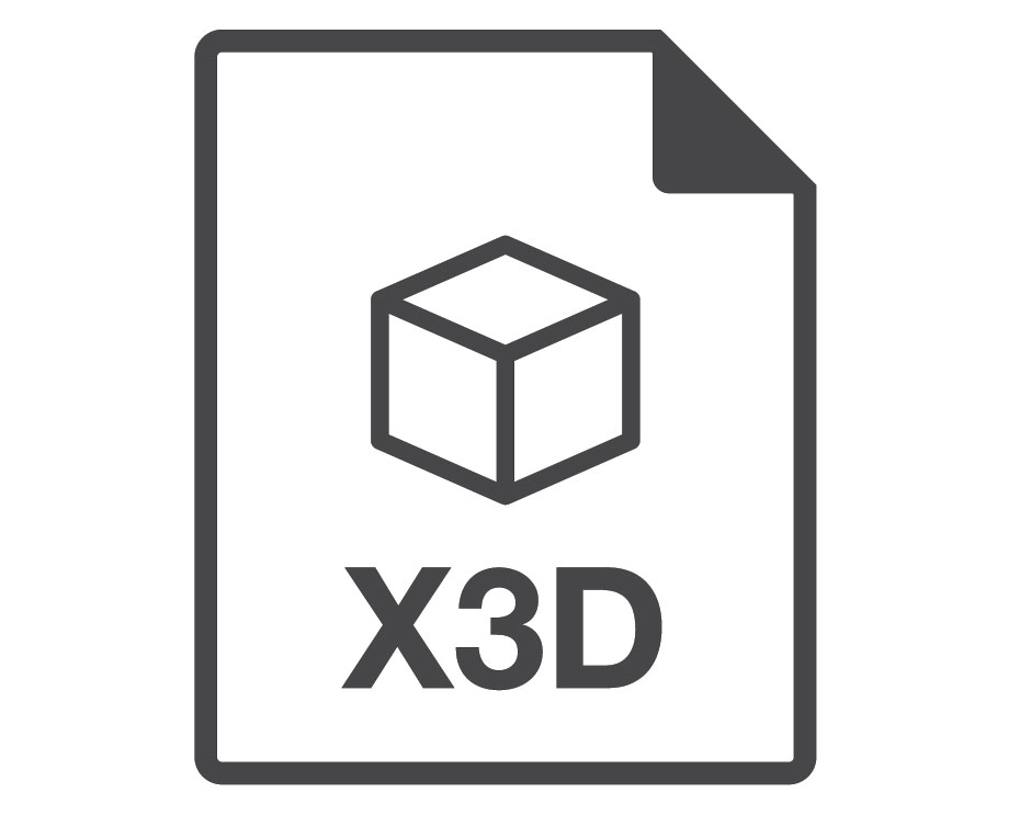 An Icon of X3D Format of a 3D File
