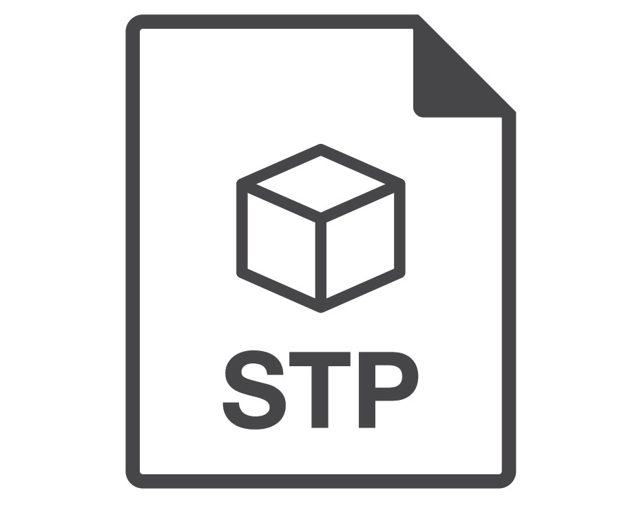 A Logo of STEP or STP 3D File Format