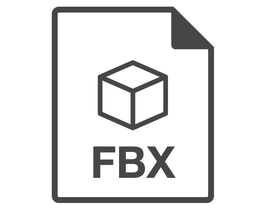 A Vector Icon of FBX Format of 3D File