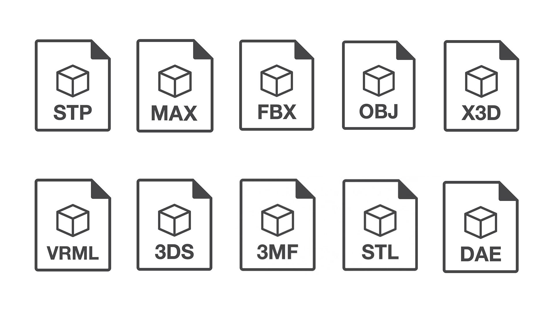 Types of 3D File Formats