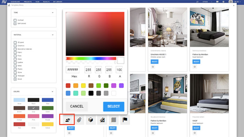 A Snapshot of Selecting Accurate Colors to Speed Up a Project