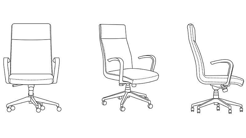 A 2D Drawing of a Chair That May Help CG Artists and Speed Up a Project