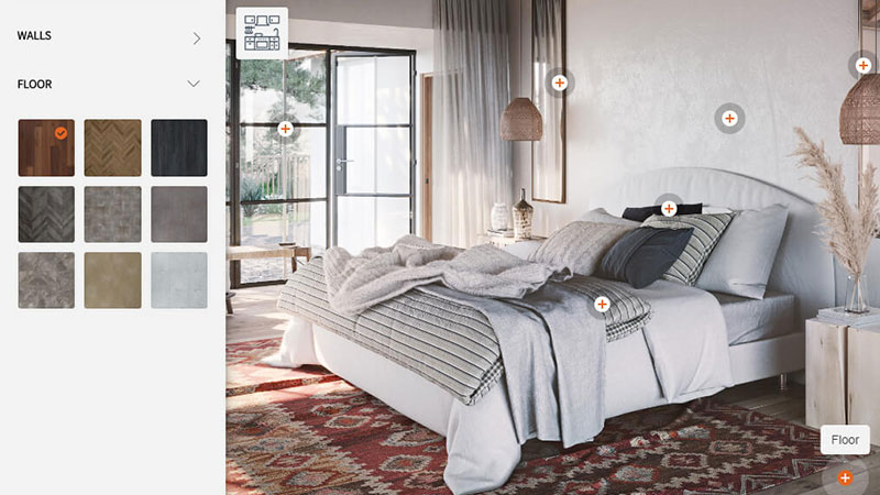 A Bedroom Furniture Set in an Interactive CG Configurator