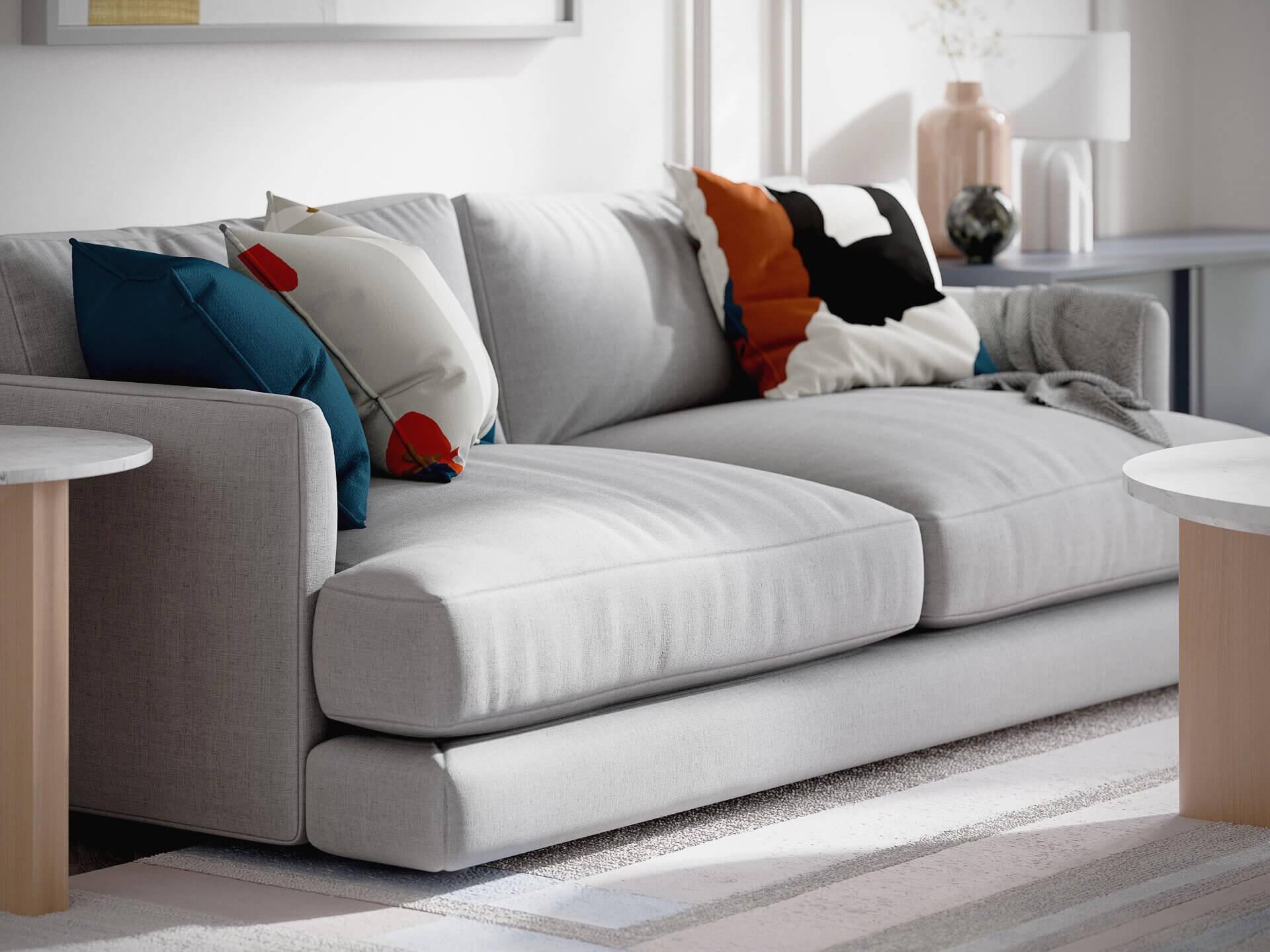 3D Visualization of a Comfy Sofa