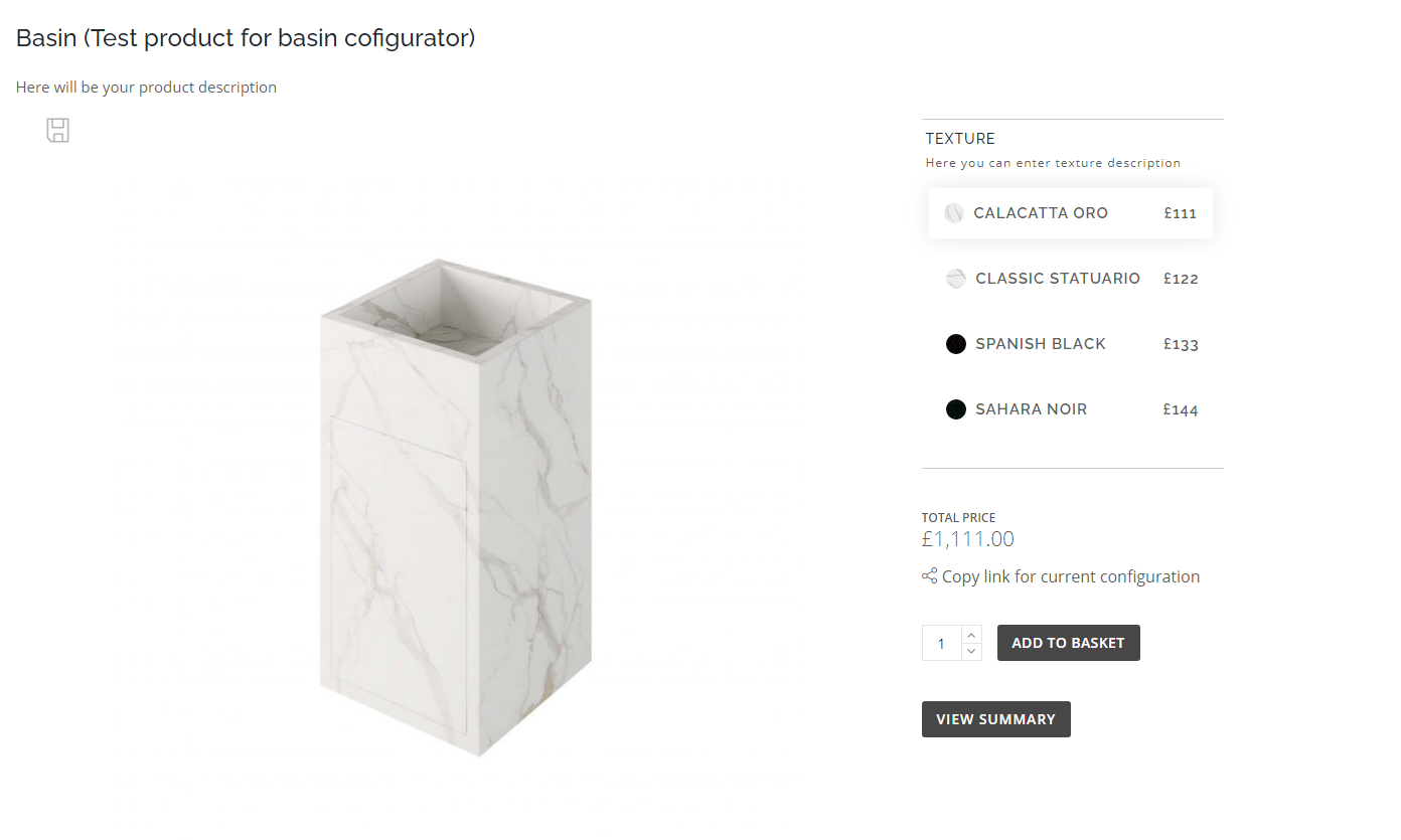 A 3D Configurator for a Product