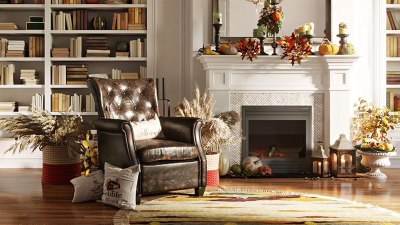 A Holiday Furniture Room Set That Can Be Used for any Promo and Marketing Ideas