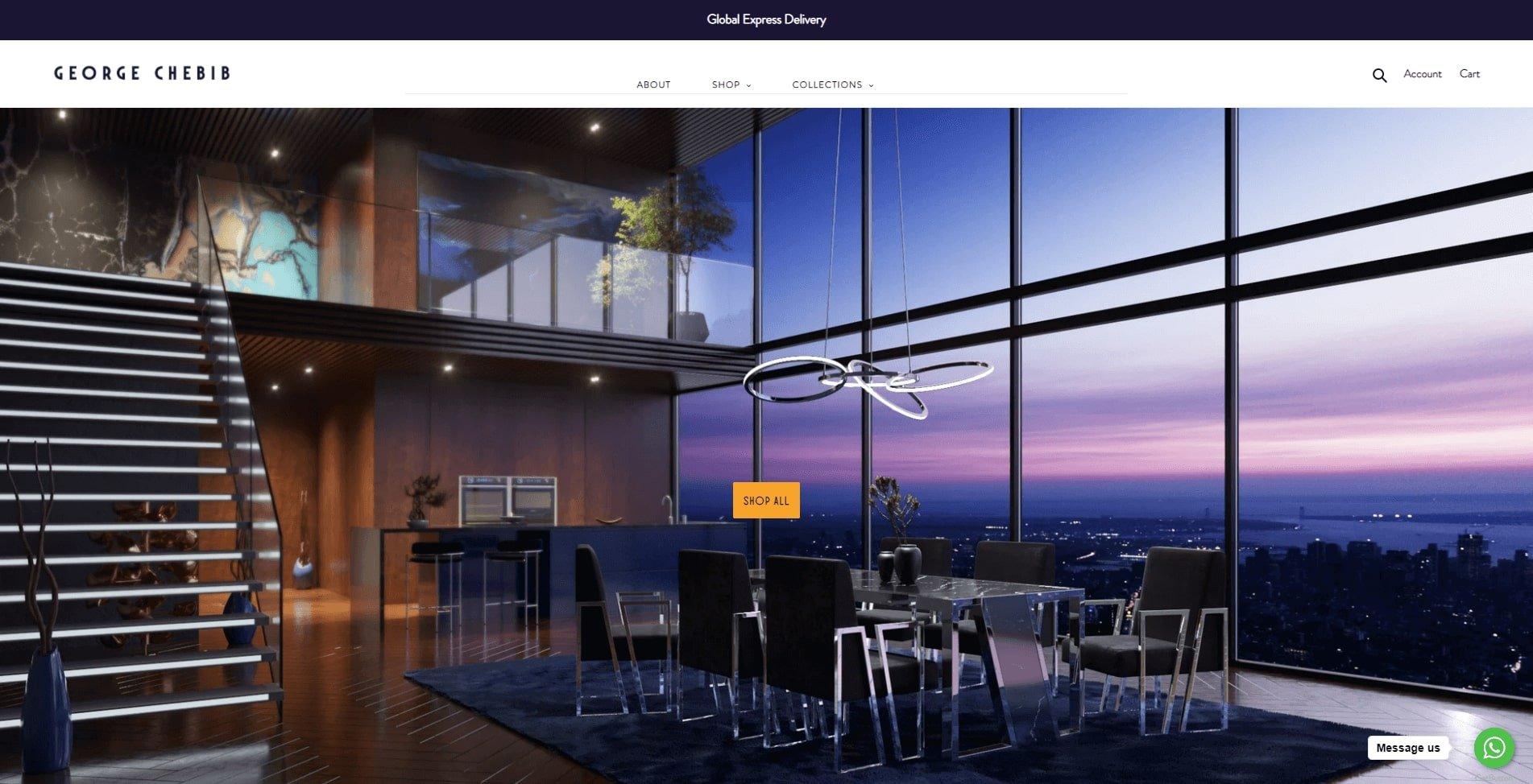 Furniture 3D Visualization in a Roomset on George Chebib Furniture Site