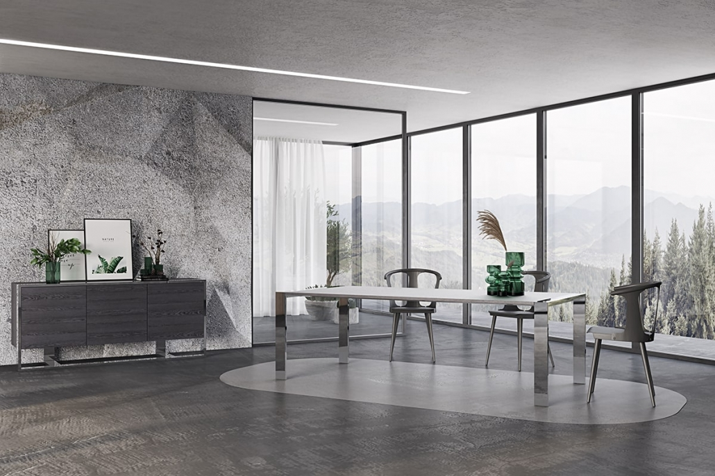Lifestyle 3D Visualization of a Home Office In Grey Tones
