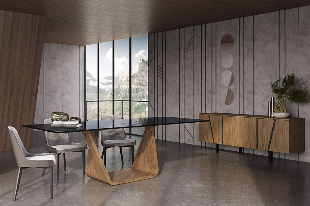 High-Quality 3D Rendering of a Stylish Dining Room