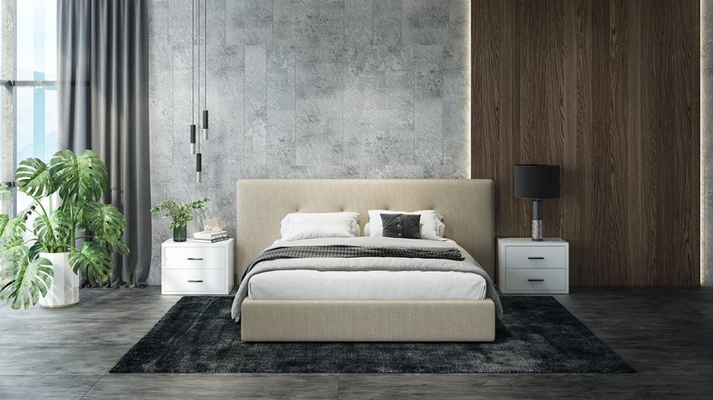 3D Visualization of an Upholstered Bed Design