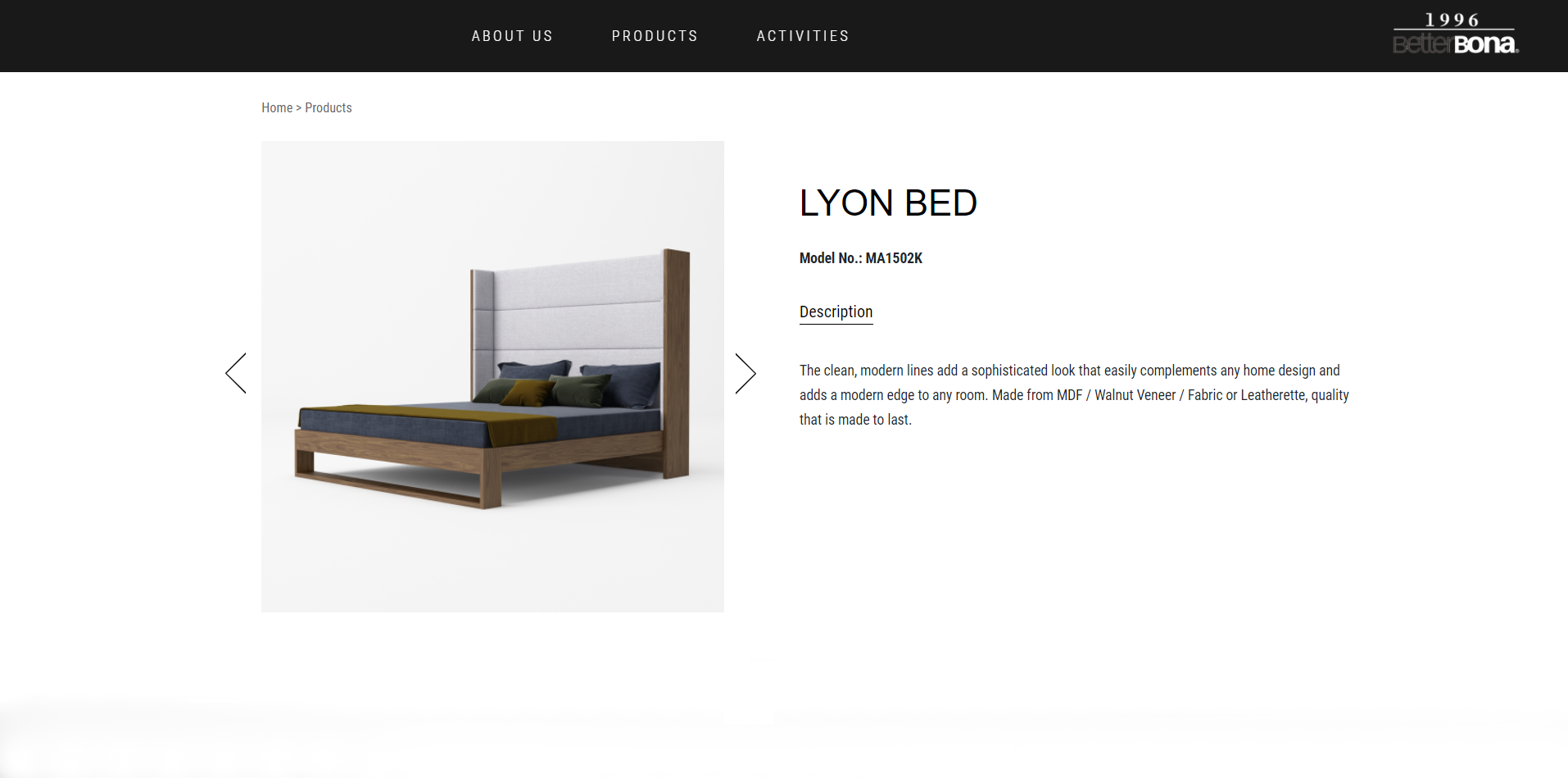 3D Product Render of a Bed for Ecommerce Listing