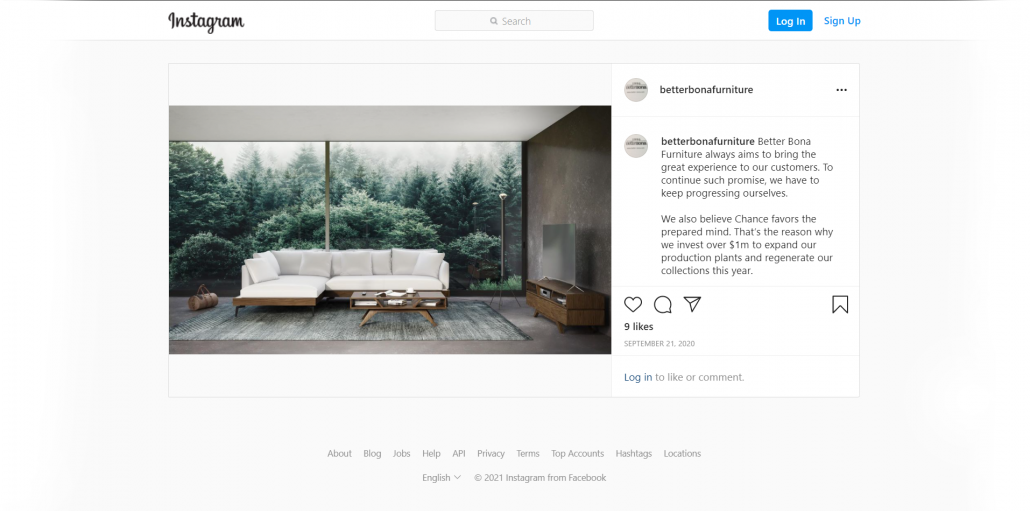 Product CGI for Furniture Brand's Social Media Posts